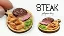 Polymer clay Steak potato wedges TUTORIAL polymer clay food