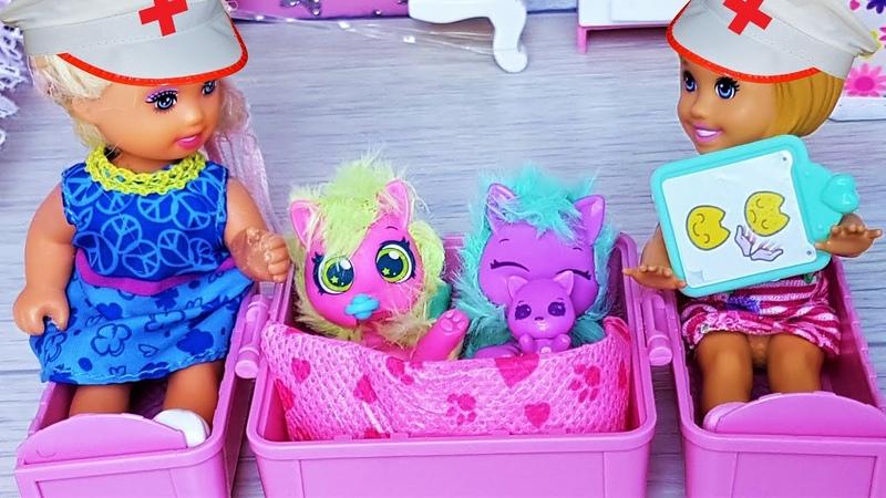 ВЫЛЕЧИ СЕМЕЙКУ! КАТЯ И МАКС ОТКРЫВАЮТ СЮРПРИЗ Scruff Surprise. Мультики с куклами Барби