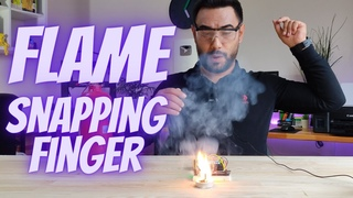 Flame the candle by snapping finger