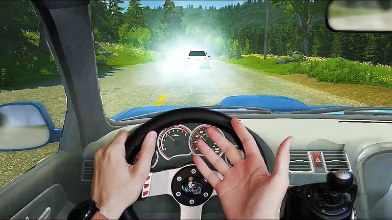 One Day in BeamNG.drive Traffic 🚦 Real Hands Steering Wheel