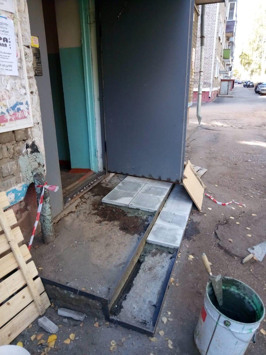 Укладка плитки Улица Большева дом 10 у