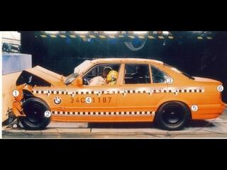 Extrime crash test BMW E34 vs Volvo - Экстримальный краш тест BMW E34