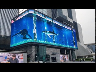 The Wave - World's largest anamorphic illusion @ SM Town Coex Atrium