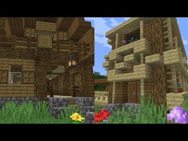 Строительство деревни 1 Майнкрафт креатив