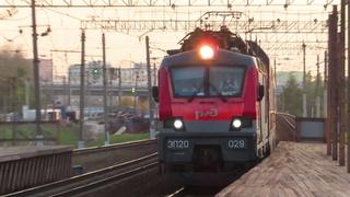 Электровоз ЭП20-029 с поездом№740А Брянск-Москва станция Очаково