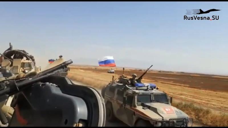СРОЧНО Российский БТР протаранил американцев в Сирии