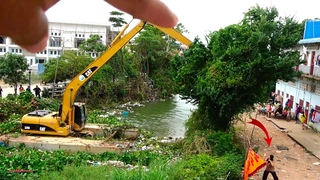 Best Operating Safety Long Reach Excavator Crush Trees Dredging Canal
