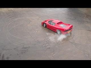Ferrari F50 in motion - High speed camera