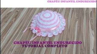 Chapéu infantil de crochê endurecido/Ateliê Luisa Andrade