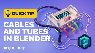 Cables and Tubes Tutorial in Blender  | Polygon Runway
