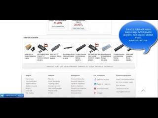 Tüm Sarf : Notebook Batarya Notebook Adaptör Tedarik Merkezi