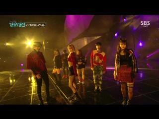 Jinyoung x Yugyeom x Ten x Seulgi x Eunjin x Yooa x Lisa - Street Dance Perfomance @ 2016 SBS Gayo Daejun 161226