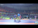 РИО-2016 74 кг 1_8 финала Зелимхан Хаджиев (Франция) - Сохсуке Такатани (Япония)