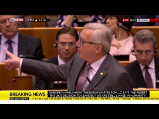 Nigel Farage clashes with EU chief Jean-Claude Juncker as he's told: 'That's the last time