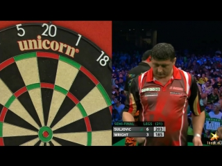 Mensur Suljovic vs Peter Wright (PDC European Championship 2016 / Semi Final)