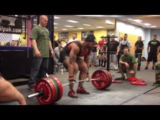 Sean Green(110kg) установил Мировой Рекорд федерации IPA в становой тяге 385,5кг