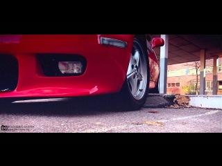 BMW Z3 - съезд с небольшого бордрюра