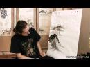 Уроки по пейзажной живописи у син Китайский пейзаж с рекой и лодками
