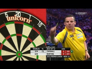 Dave Chisnall v Stephen Bunting (2015 Premier League Darts / Week 14)