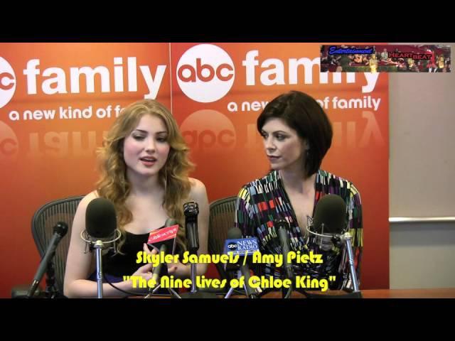 Skyler Samuels Amy Pietz Tap Into Their Inner Feline for The Nine Lives of Chloe King