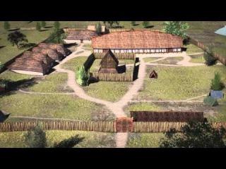 Отличная 3D-реконструкция археологического памятника Эпохи викингов на западном берегу озера Tissø в Дании. Сделали ее по з