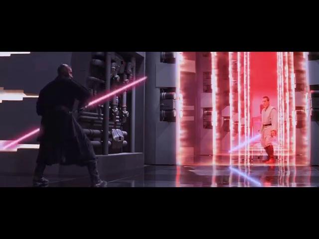 DARTH MAUL FULL LIGHT SABER FIGHT in HD Star Wars The Phantom Menace