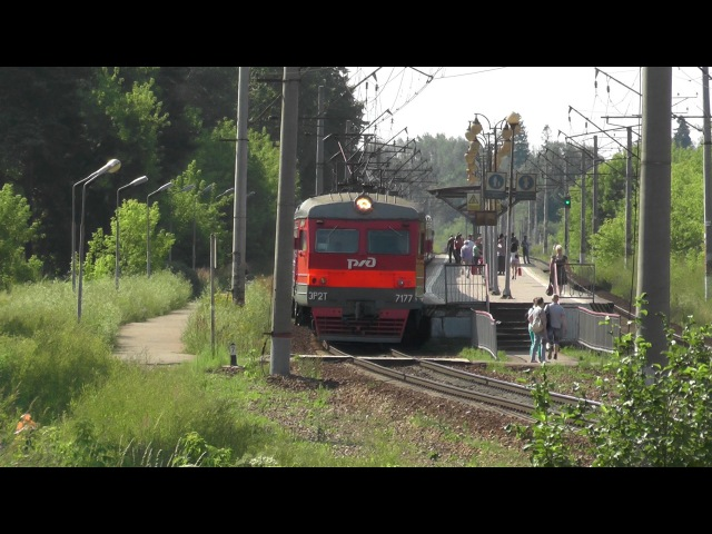 Электропоезд ЭР2Т-7177 перегон Икша - Яхрома