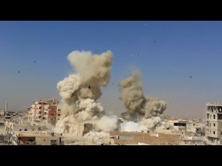 Recent Syrian government air strikes in the rebel held town of Darayya (south of Damascus)