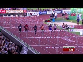 Jason Richardson  wins   110mH in Luzern 2015