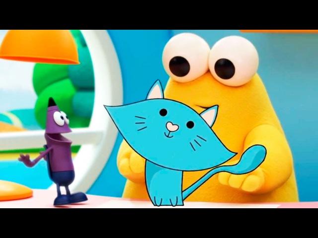 Развивающий мультфильм Каракули Уроки рисования для детей Как нарисовать кот