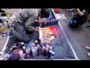 Москва улица Арбат уличный художник