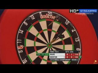 James Wade vs Wes Newton (PDC World Darts Championship 2016 / Round 2)