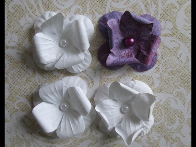 Скрапбукинг Цветы из бумаги с 4 лепестками своими руками Видео мастер класс / Paper flowers