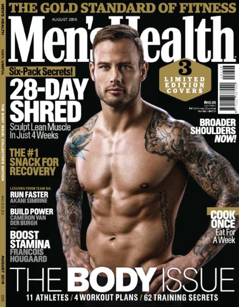 Men Health South Africa August 2016
