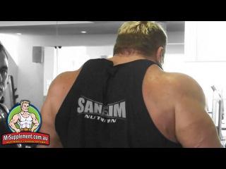 Marcus Ruhl's Hammer Strength Shrug   Trap Exercise