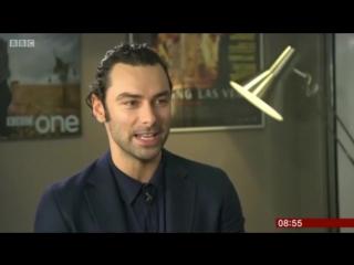 Aidan turner on bbc breakfast show