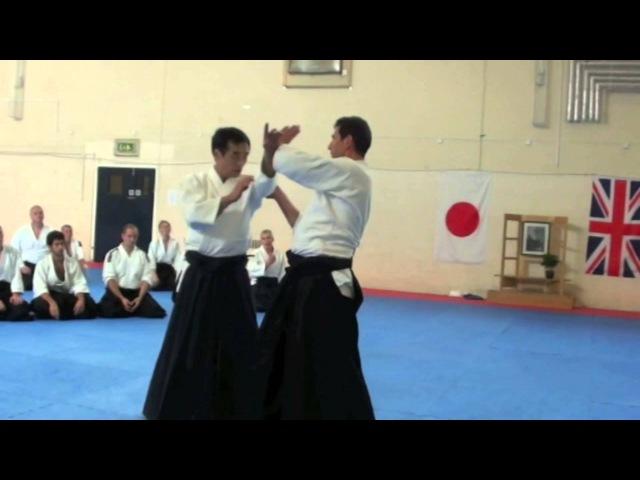 Yukimitsu Kobayashi Sensei (Aikikai Hombu Dojo 7th Dan Shihan) teaching KataDori Menuchi Kokyunage