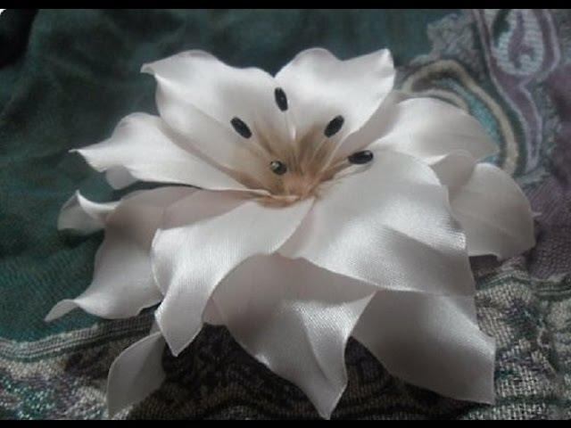 Цветы из атласной ленты своими руками Пошаговое фото