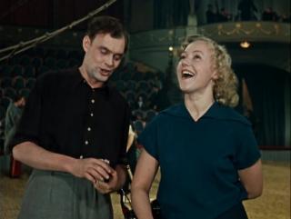 УКРОТИТЕЛЬНИЦА ТИГРОВ (1954) - мелодрама, комедия. Александр Ивановский, Надежда Кошеверова