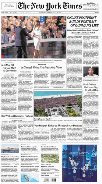 The New York Times  July 19 2016