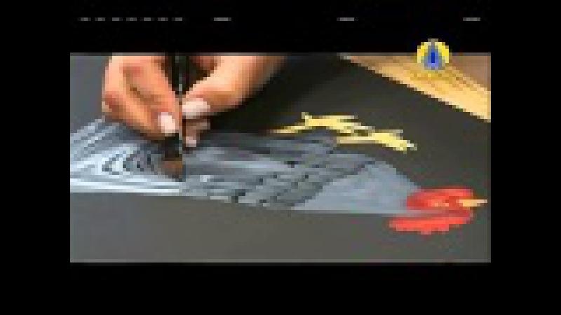 Tudo Artesanal Pintura Gestual de Galinha por Diná Rocha 12 de Janeiro de 2013