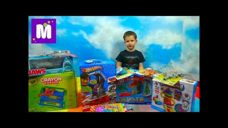 Посылка с игрушками Хот Виллс и Томас и его друзья Box with toys Hot Wheels cars Tomas and friends