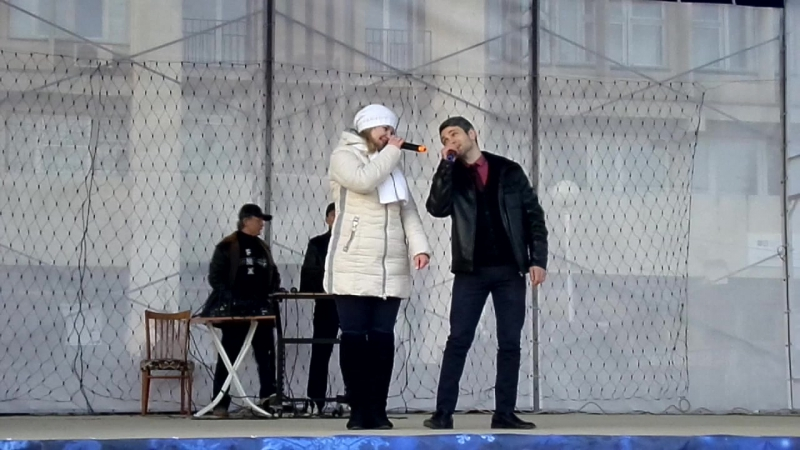 Выступление Ксении Корягиной и Марлена Белялова 1 января 2017 г