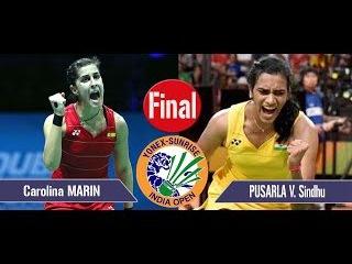 [HD] 2017 YONEX SUNRISE India Open Final [WS] Carolina MARIN vs PUSARLA V. Sindhu