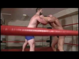 Wrestling : bear vs muscle hunk