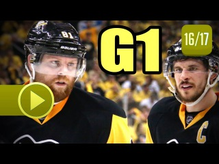 Columbus Blue Jackets vs Pittsburgh Penguins. 2017 NHL Playoffs. Round 1. Game 1.  (HD)