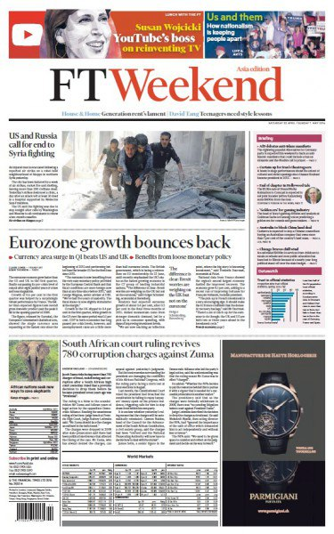 Financial Times Weekend Edition Asia - 30 April 2016