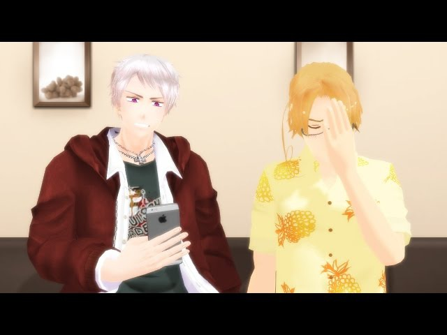 MMD APH - Reading a PruCan fanfic