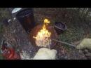 Raku firing copper and green glaze.