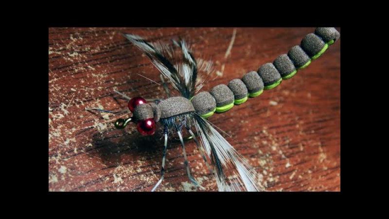 Adult drafonfly realistic imitation fly tying instructions by Ruben Martin